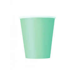Ποτήρι χάρτινο σε mint χρώμα 9 εκ