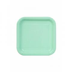 Πιάτο χάρτινο γλυκού σε mint χρώμα 17 εκ