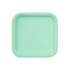 Πιάτο χάρτινο φαγητού σε mint χρώμα 23 εκ