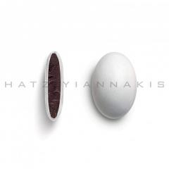 Κουφέτα σοκολάτας Piccolino λευκό γυαλισμένο 1kg