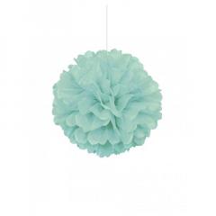 Διακοσμητική μπάλα Puff σε mint χρώμα