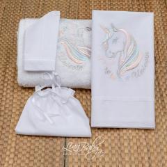 Λαδόπανο βαμβακερό για κορίτσι Unicorn