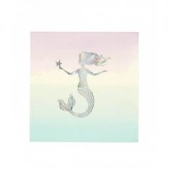 Χαρτοπετσέτες με ασημί γοργόνα We Love Mermaids