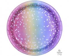 Πιάτα Χάρτινα 23εκ. Rainbow Ombre 8τεμ.