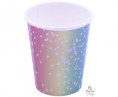 Ποτήρια Χάρτινα 250ml Rainbow Ombre 8τεμ.