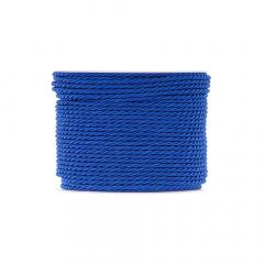 Κορδόνι τρίκλωνο 3mm μπλε ελεκτρίκ