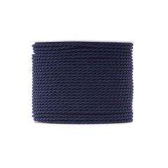 Κορδόνι τρίκλωνο 3mm navy blue