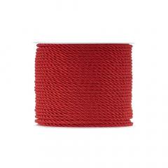 Κορδόνι τρίκλωνο 3mm κόκκινο