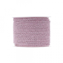 Κορδόνι τρίκλωνο 3mm ροζ