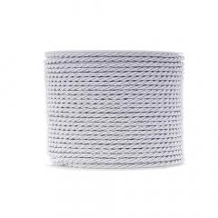 Κορδόνι τρίκλωνο 3mm λευκό