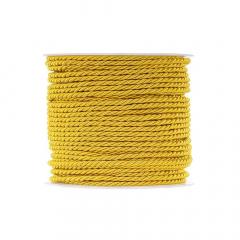 Κορδόνι τρίκλωνο 3mm κίτρινο