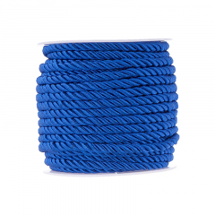 Κορδόνι τρίκλωνο 5mm μπλε ηλεκτρίκ
