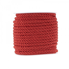 Κορδόνι τρίκλωνο 5mm κόκκινο