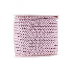 Κορδόνι τρίκλωνο 5mm ροζ