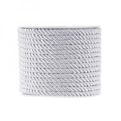 Κορδόνι τρίκλωνο 5mm λευκό