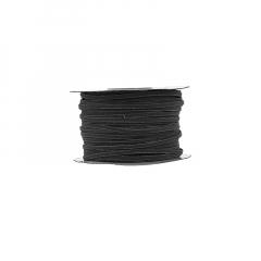 Κορδόνι δερματάκι σουέντ μαύρο 3mm