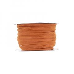 Κορδόνι δερματάκι σουέντ πορτοκαλί 3mm