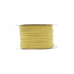 Κορδόνι δερματάκι σουέντ κίτρινο 3mm
