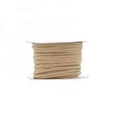 Κορδόνι δερματάκι σουέντ εκρού 3mm