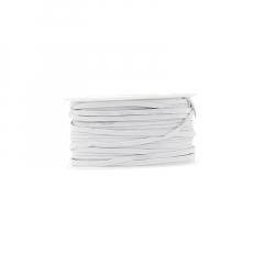 Κορδόνι δερματάκι σουέντ λευκό 3mm