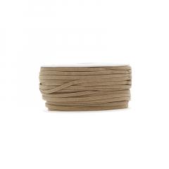 Κορδόνι δερματάκι σουέντ μπεζ 3mm