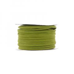 Κορδόνι δερματάκι σουέντ πράσινο 3mm