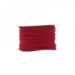 Κορδόνι δερματάκι σουέντ κόκκινο 3mm