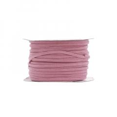 Κορδόνι δερματάκι σουέντ ροζ 3mm