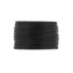 Κορδόνι κερωμένο σε μαύρο χρώμα