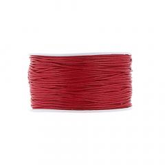 Κορδόνι κερωμένο σε κόκκινο χρώμα