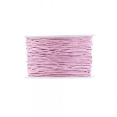 Κορδόνι κερωμένο σε ροζ χρώμα