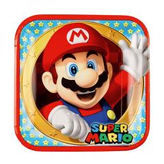 Χάρτινα πιάτα φαγητού Super Mario
