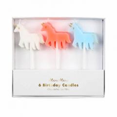 Κεράκια σχήμα μονόκερου Rainbows & Unicorns Meri Meri