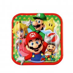 Χάρτινα πιάτα γλυκού Super Mario