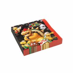 Χαρτοπετσέτες φαγητού 33εκ Super Mario