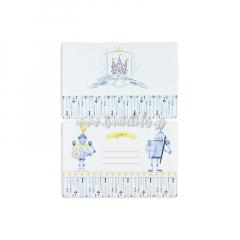 Προσκλητήριο βάπτισης με θέμα ιππότη στο κάστρο