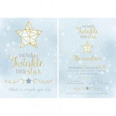 Προσκλητήριο βάπτισης twinkle twinkle little star Twenty 2 Twins