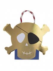 Τσάντες Δώρου σε σχήμα κρανίο πειρατή 8τεμ.