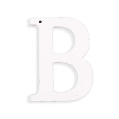 Ξύλινο γράμμα Β λευκό 6εκ
