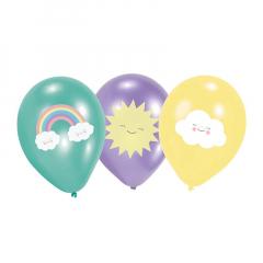 Μπαλόνια λατέξ σε 3 διαφορετικά σχέδια