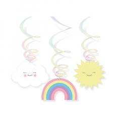Κρεμαστά διακοσμητικά ουράνιο τόξο και συννεφάκια