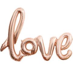 Μπαλόνι λέξη Love ροζ χρυσό 60εκ.
