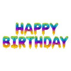Μπαλόνια φράση Happy Birthday ombre 13τεμ.