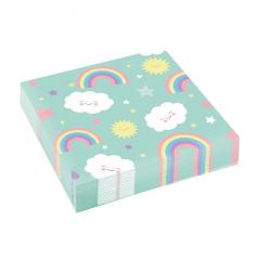Χαρτοπετσέτες φαγητού Rainbow & Cloud
