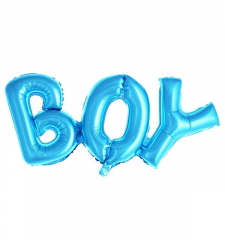 Μπαλόνι λέξη Boy μπλε 91x36εκ.
