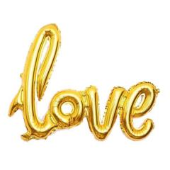 Μπαλόνι λέξη Love χρυσό 68x46εκ.