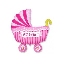 Μπαλόνι φόιλ καροτσάκι It's a Girl