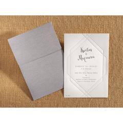 Προσκλητήριο γάμου μοντέρνο με βαθυτυπία Biniatian