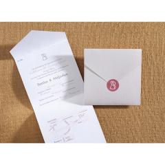 Προσκλητήριο γάμου τρίπτυχο αναδιπλούμενη κάρτα Biniatian