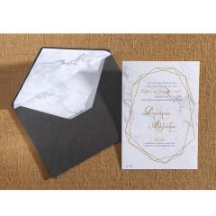 Προσκλητήριο γάμου marbble γεωμετρικά σχέδια Biniatian